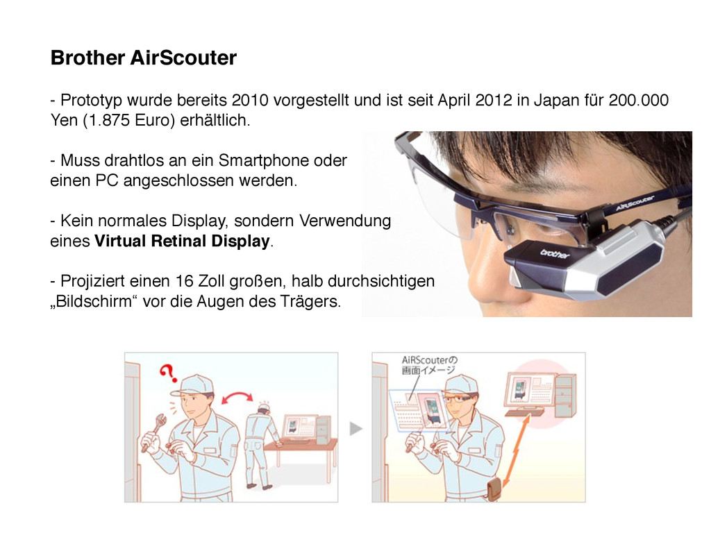 Brother AirScouter - Prototyp wurde bereits 201...