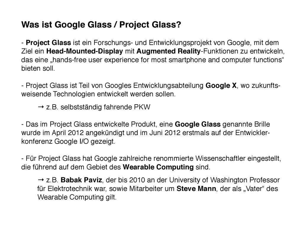 Was ist Google Glass / Project Glass? - Project...