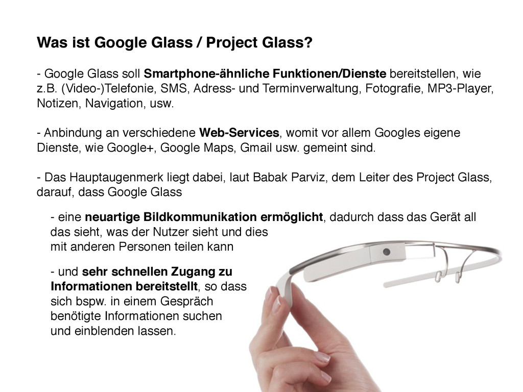 Was ist Google Glass / Project Glass? - Google ...