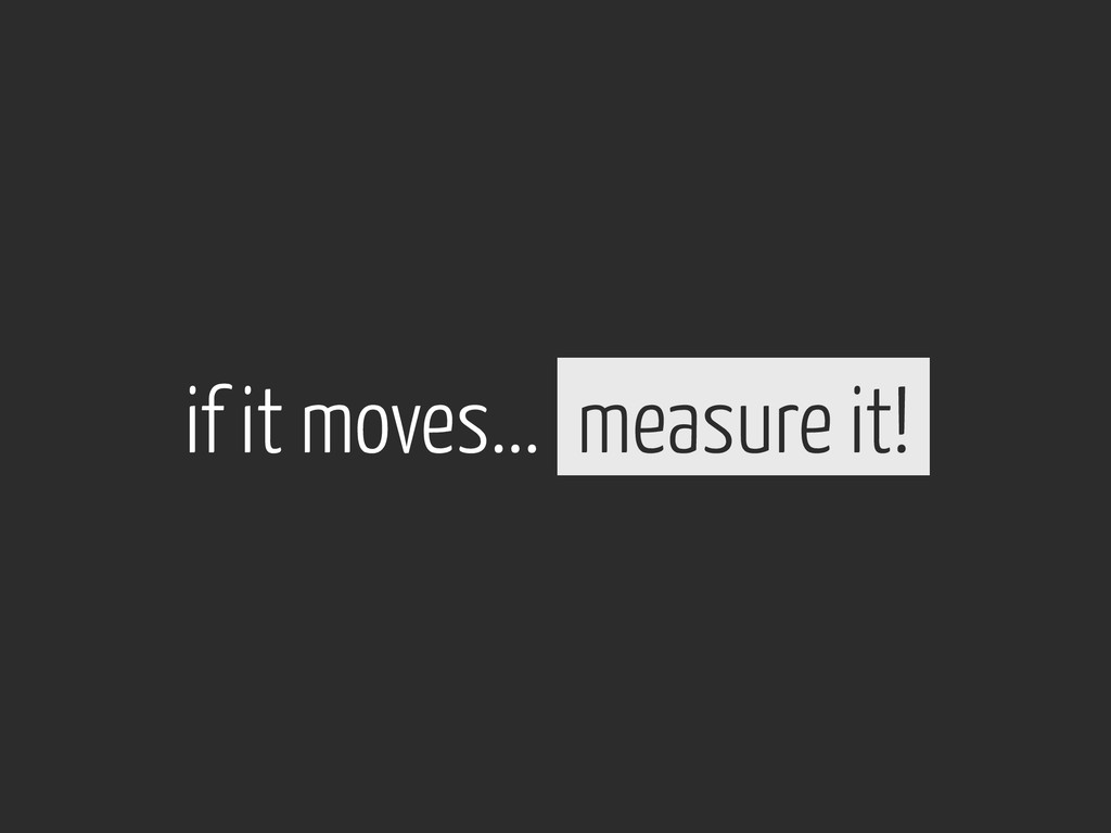 measure it! if it moves...