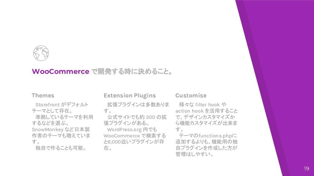 WooCommerce で開発する時に決めること。 Themes  Storefront がデ...