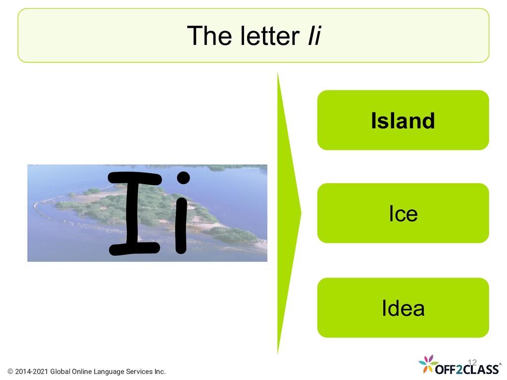 Ii The letter Ii Island Ice Idea © 2014-2021 Gl...