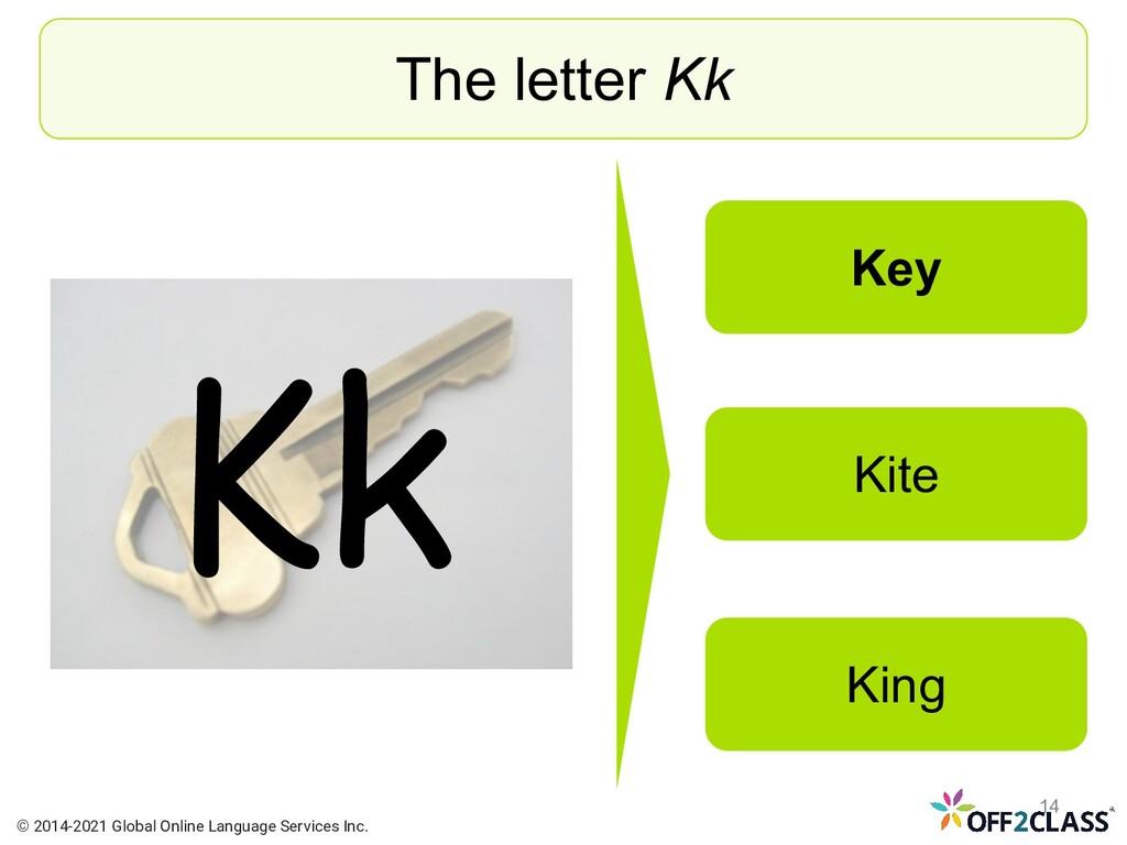 Kk The letter Kk Key Kite King © 2014-2021 Glob...