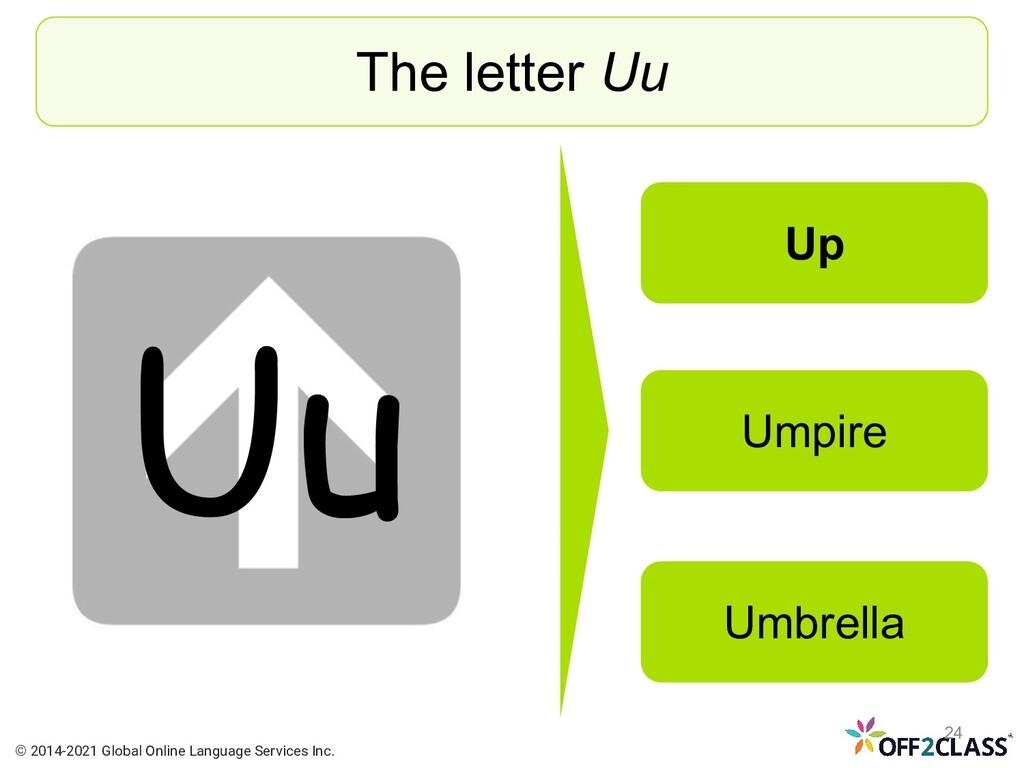 Uu The letter Uu Up Umpire Umbrella © 2014-2021...