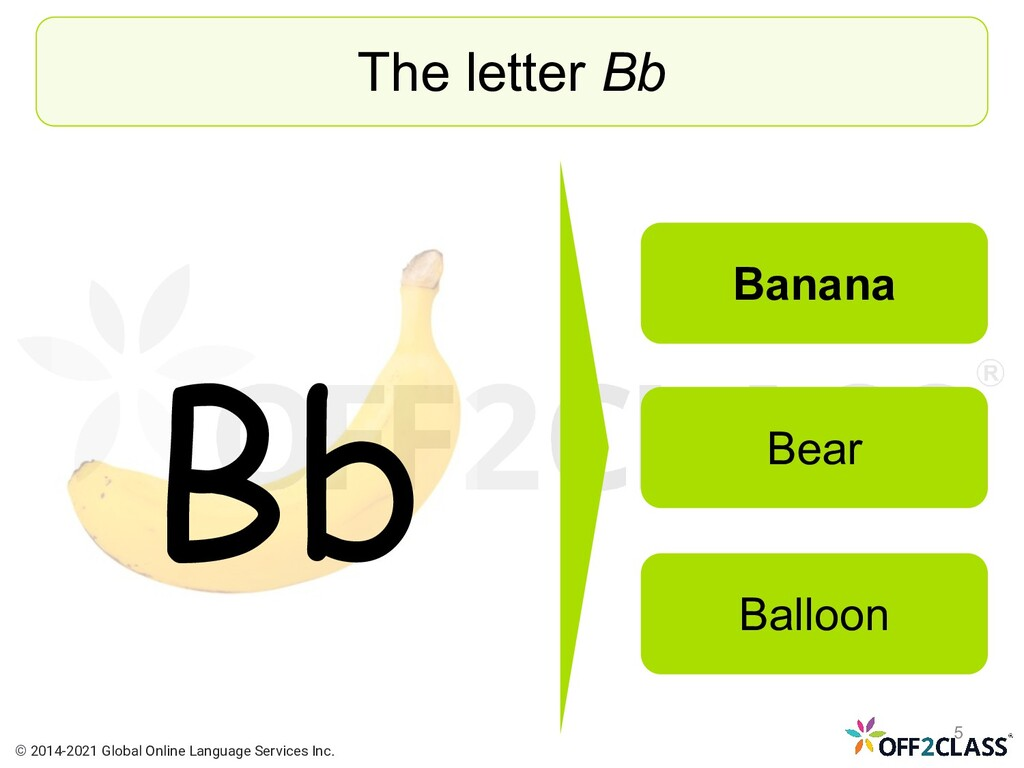 The letter Bb Banana Bear Balloon Bb © 2014-202...