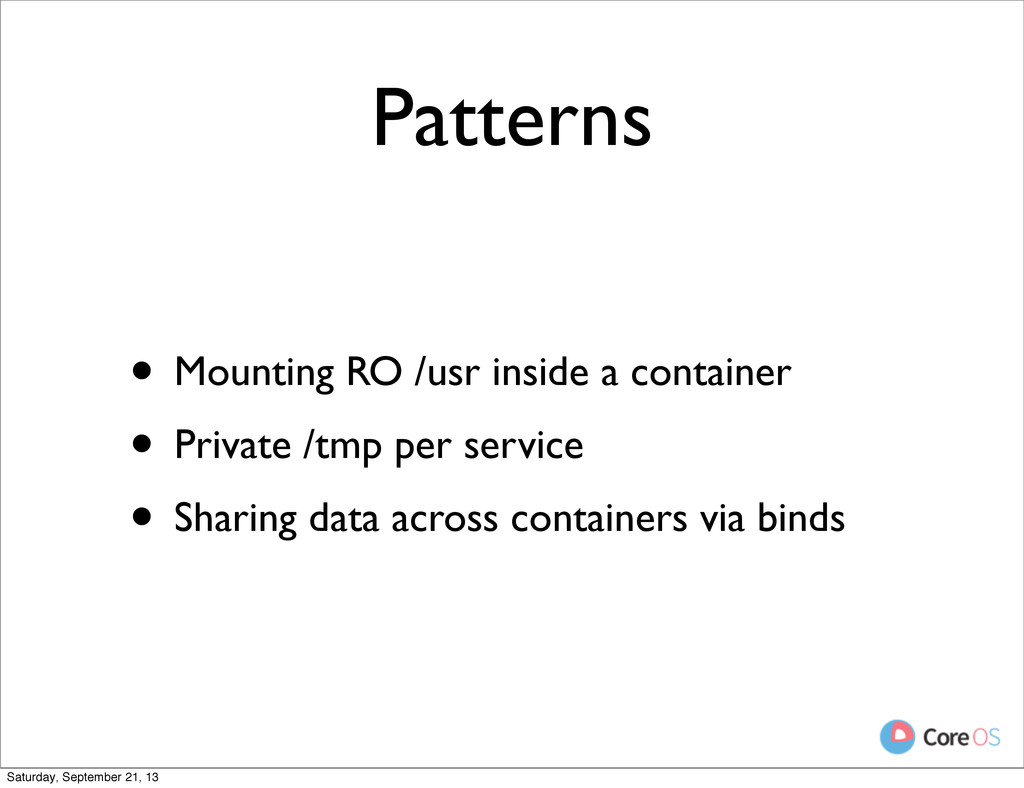 Patterns • Mounting RO /usr inside a container ...