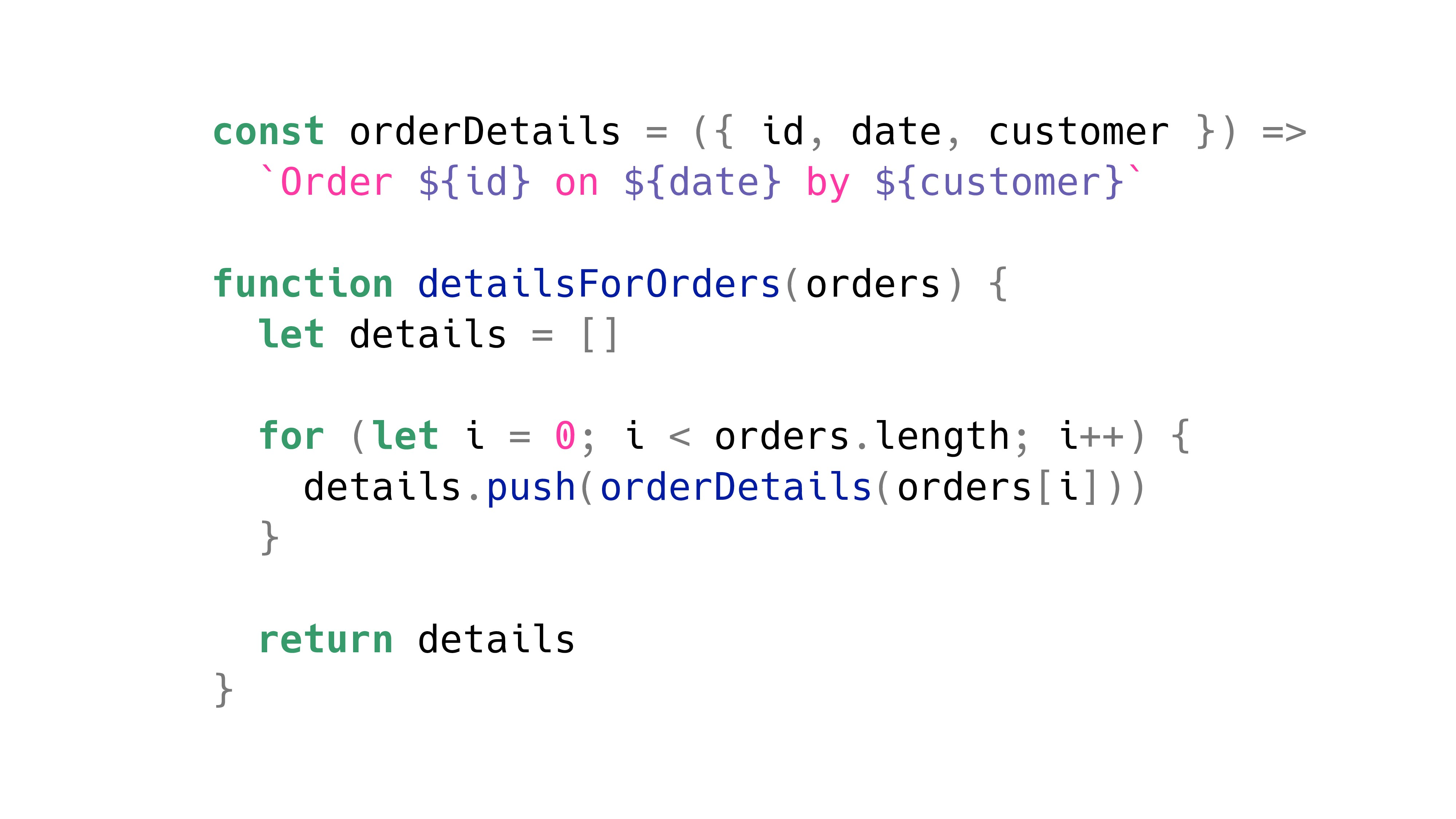 const orderDetails = ({ id, date, customer }) =...