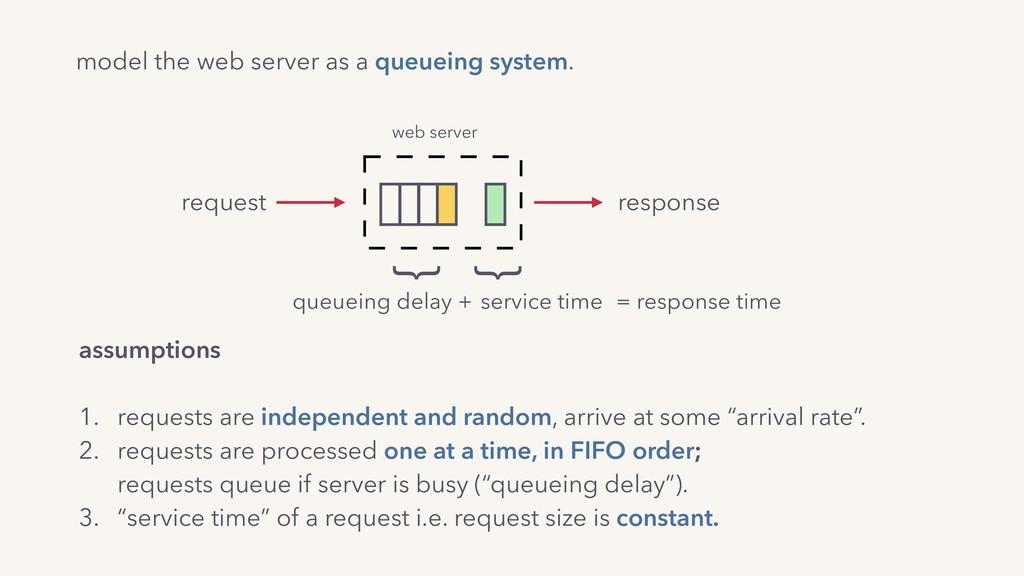 model the web server as a queueing system. assu...