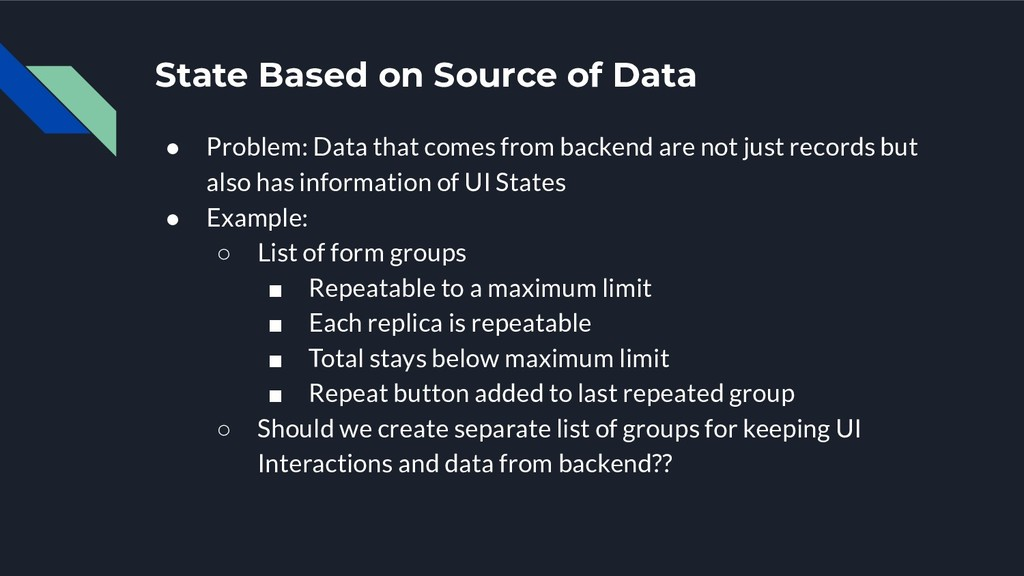 State Based on Source of Data ● Problem: Data t...