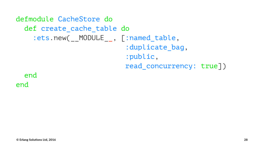 defmodule CacheStore do def create_cache_table ...