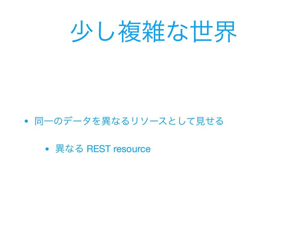গ͠ෳͳੈք • ಉҰͷσʔλΛҟͳΔϦιʔεͱͯ͠ݟͤΔ  • ҟͳΔ REST reso...