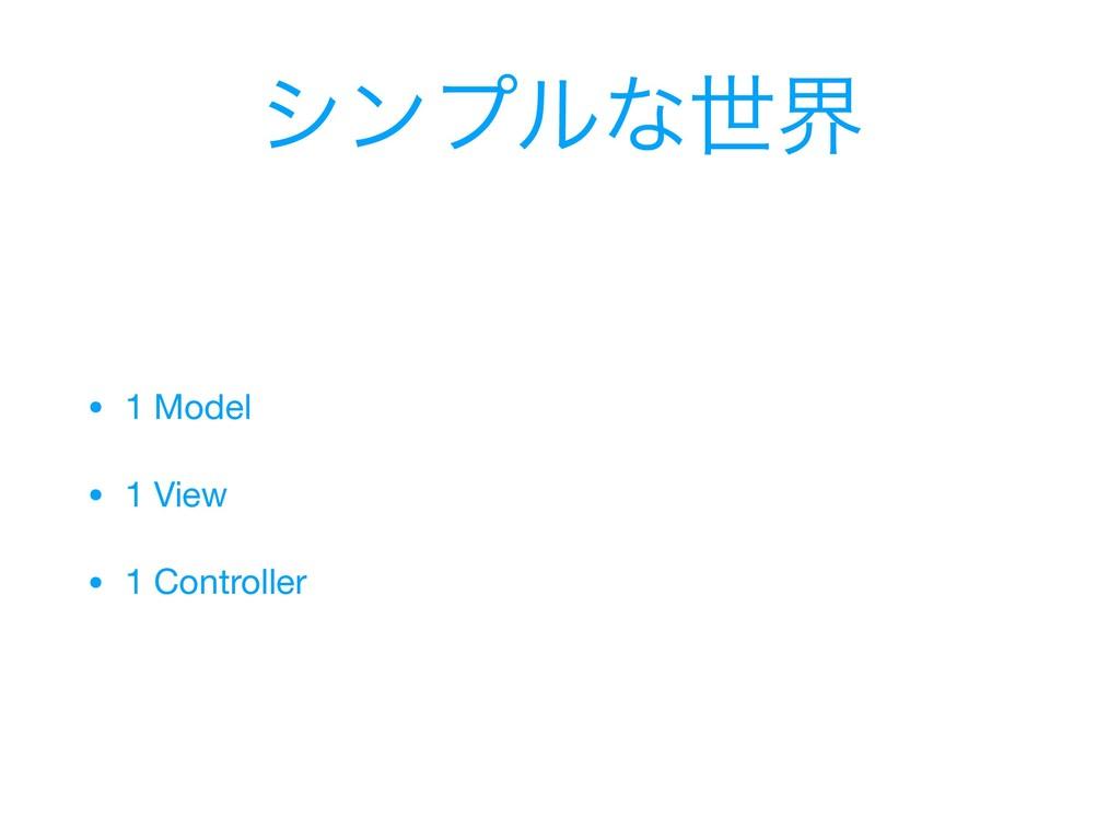 γϯϓϧͳੈք • 1 Model  • 1 View  • 1 Controller