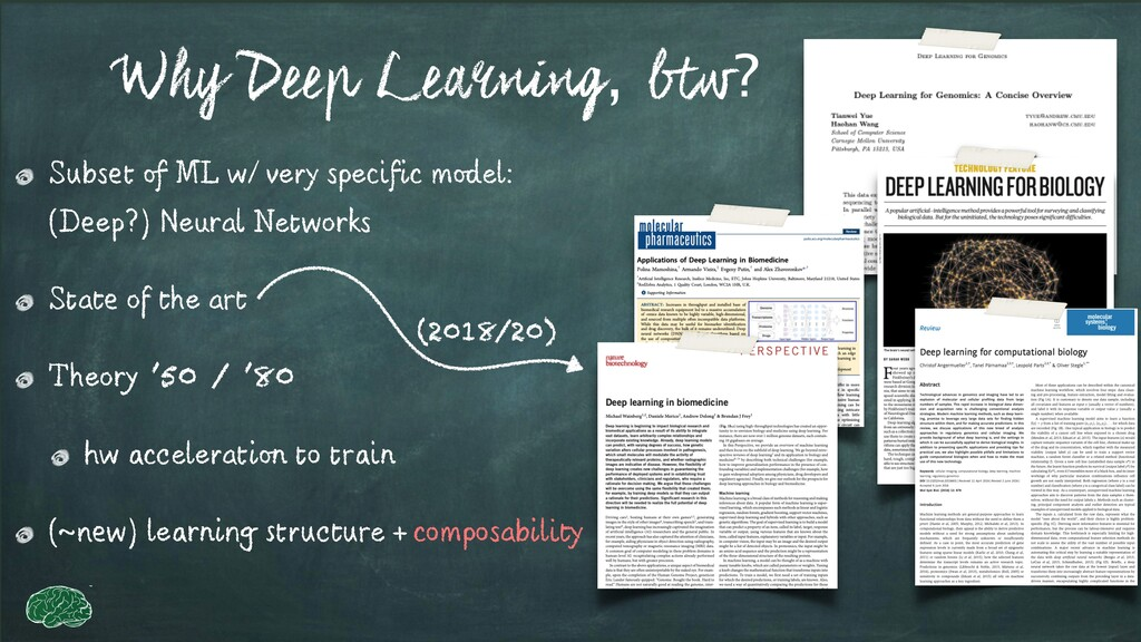 Why Deep Learning, btw? Subset of ML w/ very sp...