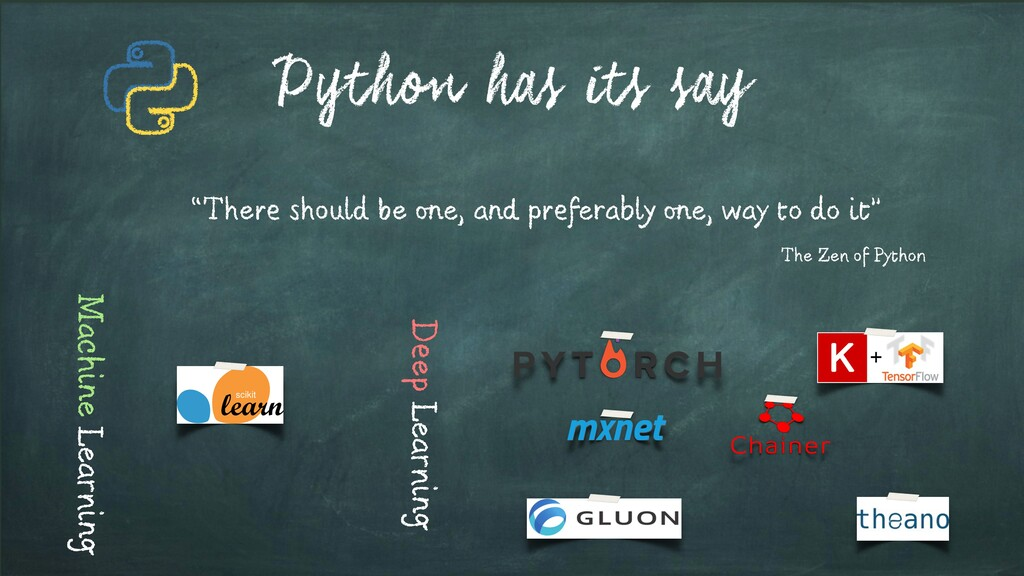 Python has its say Machine Learning Deep Learni...