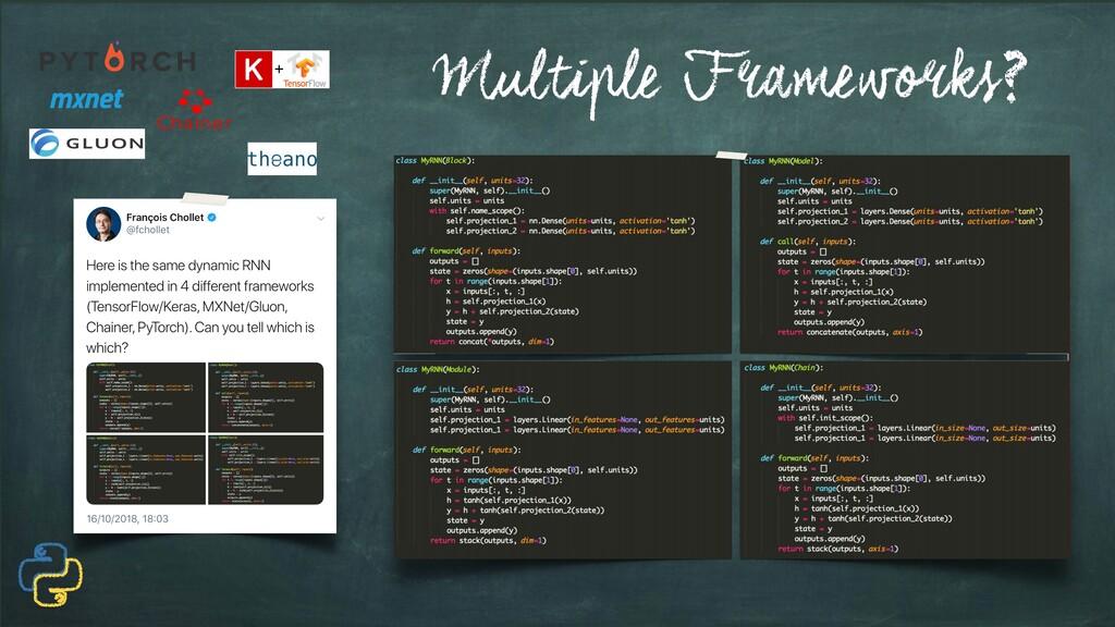 Multiple Frameworks?