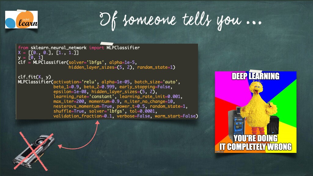 If someone tells you …
