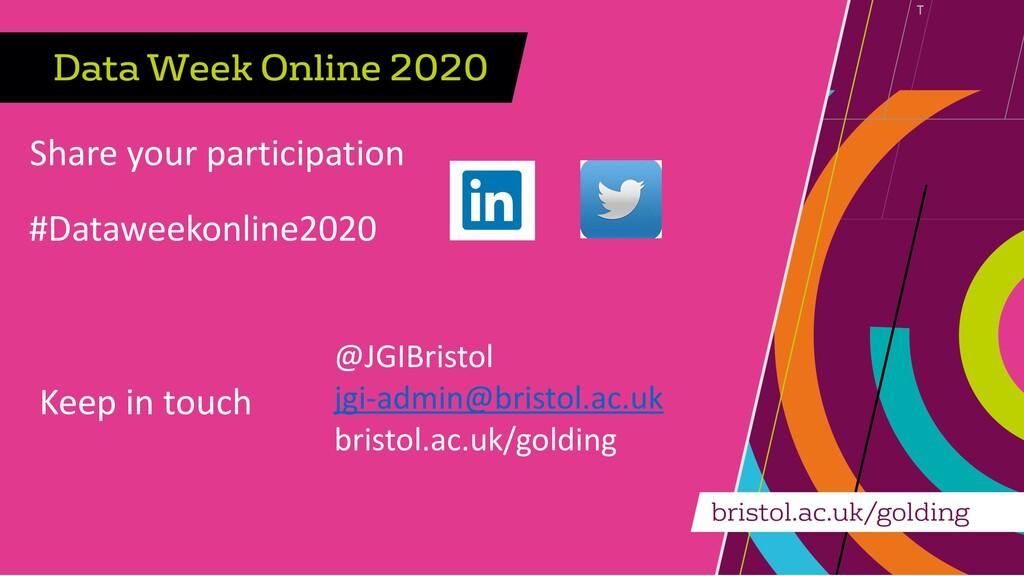 Share your participation #Dataweekonline2020 Ke...