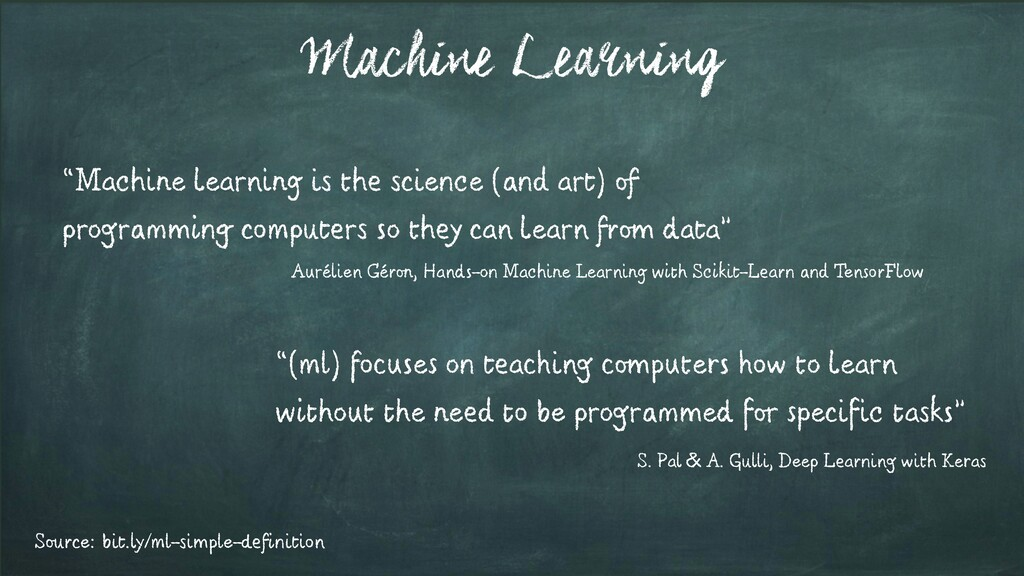 """Machine Learning """"Machine learning is the scien..."""