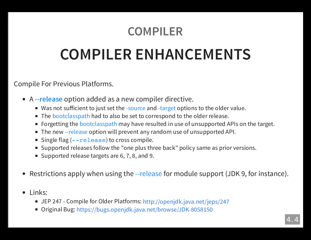 COMPILER COMPILER ENHANCEMENTS Compile For Prev...