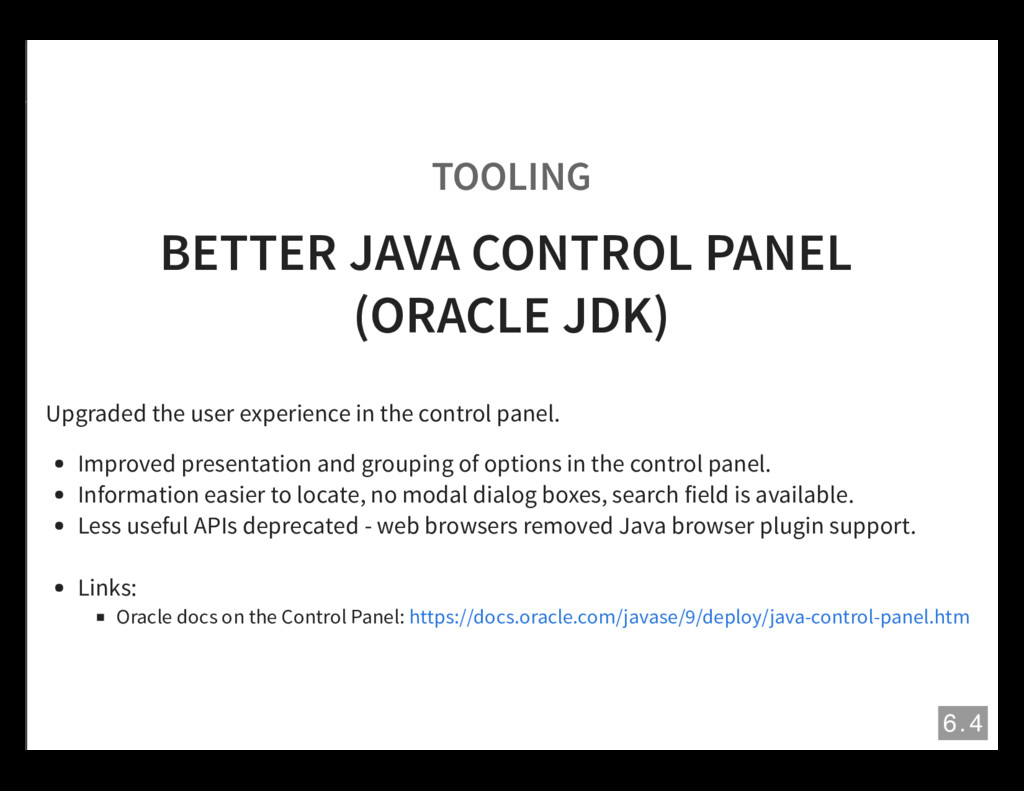 TOOLING BETTER JAVA CONTROL PANEL (ORACLE JDK) ...