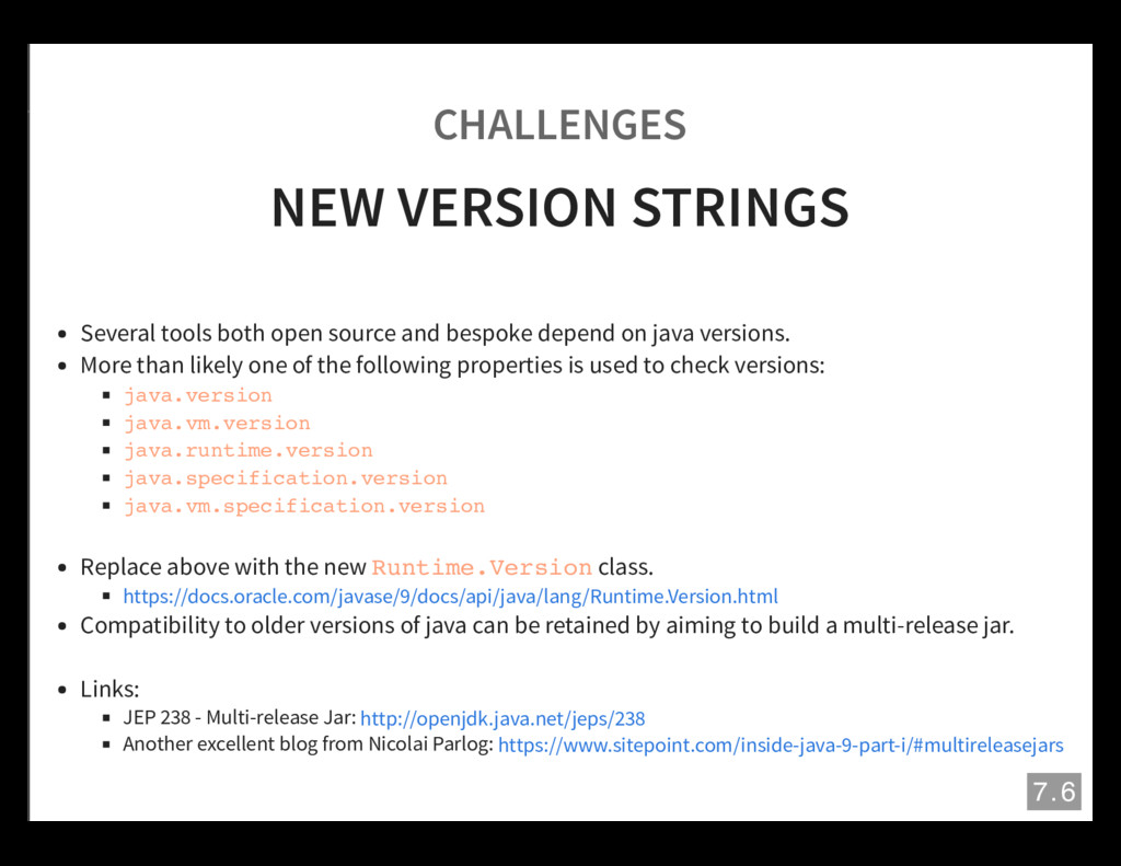 CHALLENGES NEW VERSION STRINGS Several tools bo...