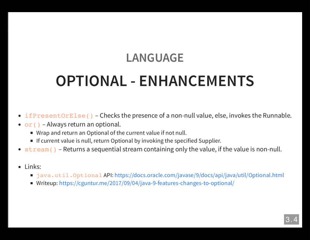 LANGUAGE OPTIONAL - ENHANCEMENTS ifPresentOrEls...