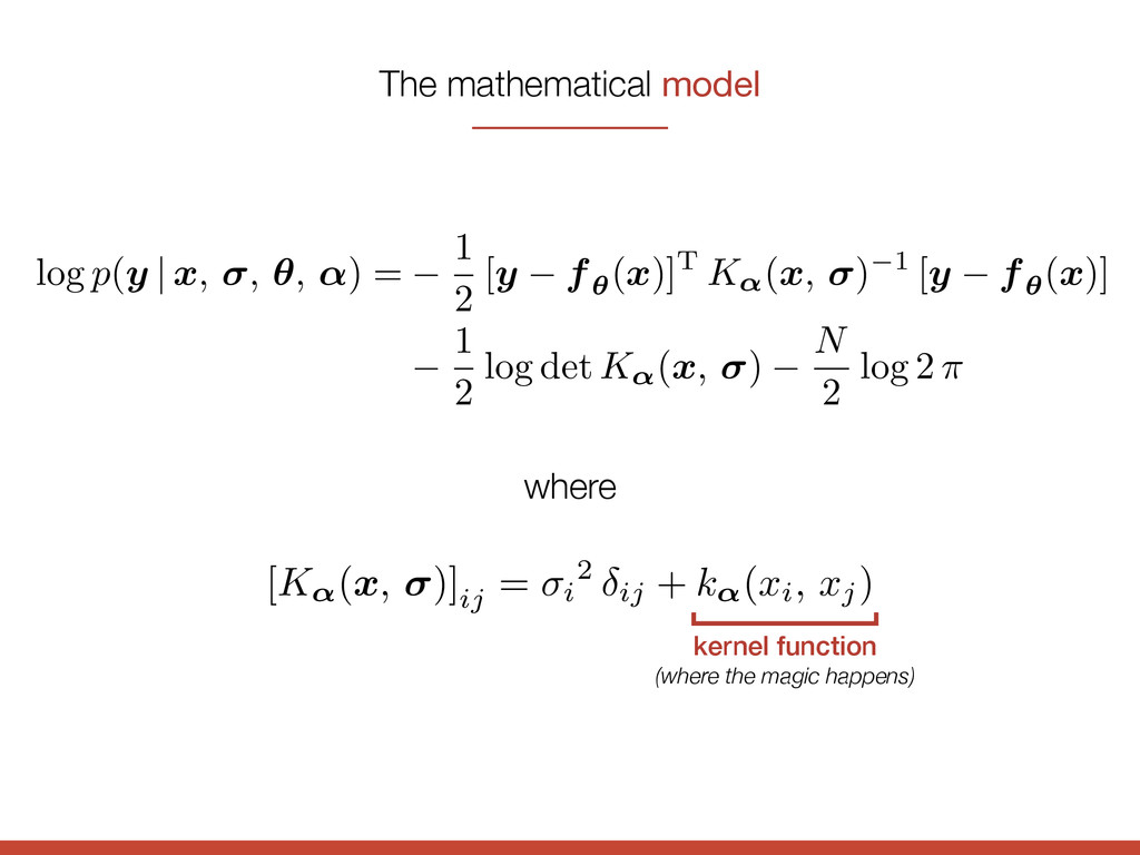 kernel function (where the magic happens) log p...