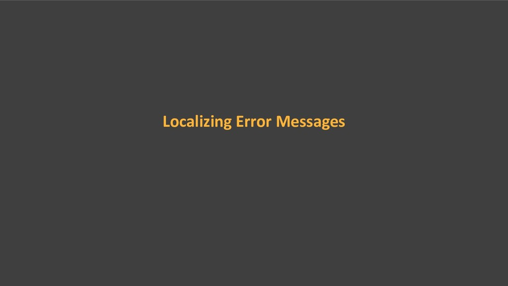 Localizing Error Messages