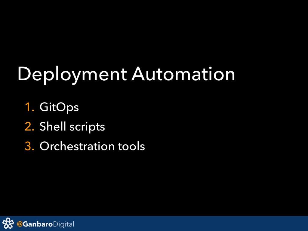 @GanbaroDigital Deployment Automation 1. GitOps...