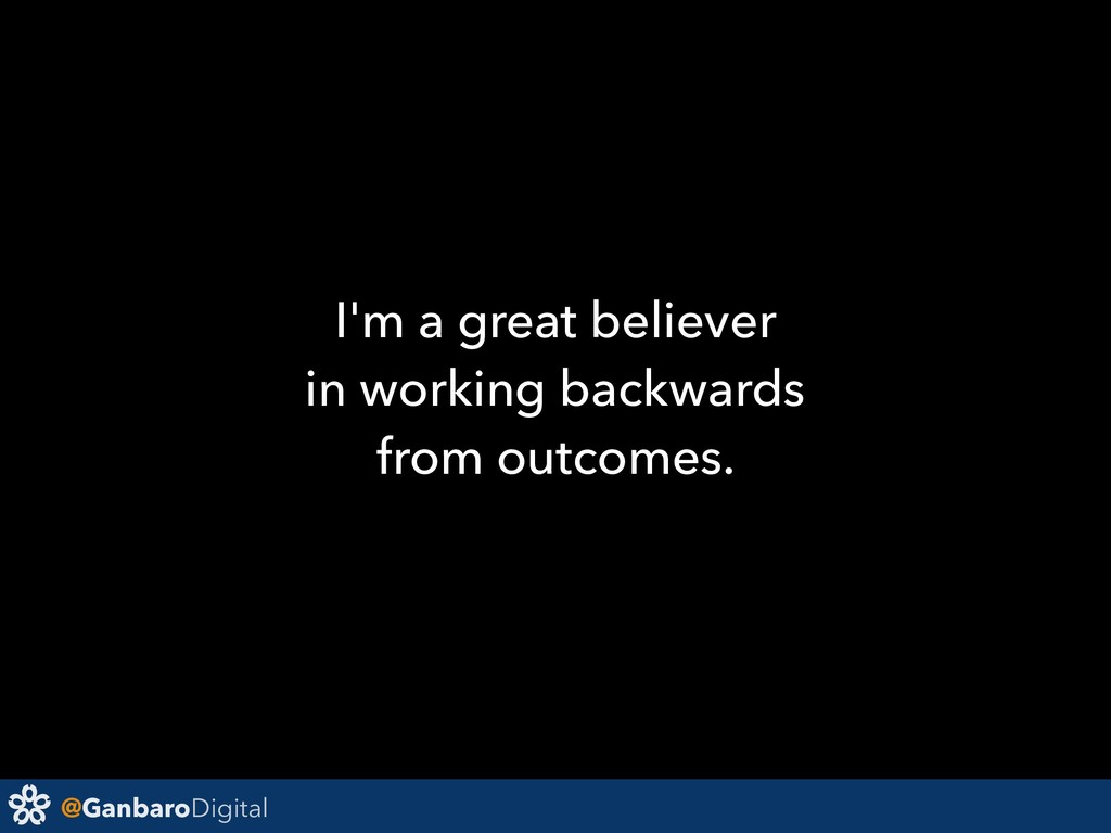 @GanbaroDigital I'm a great believer in working...
