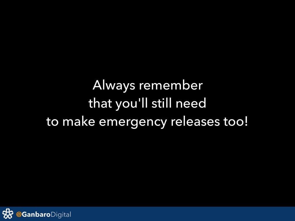 @GanbaroDigital Always remember that you'll sti...