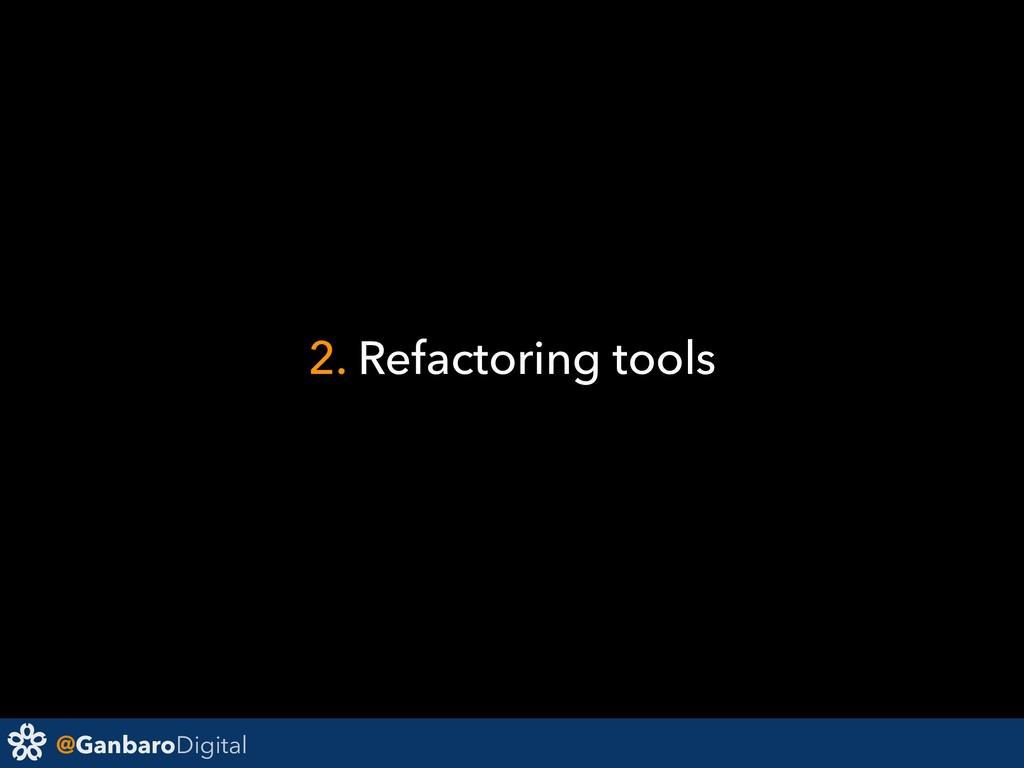 @GanbaroDigital 2. Refactoring tools