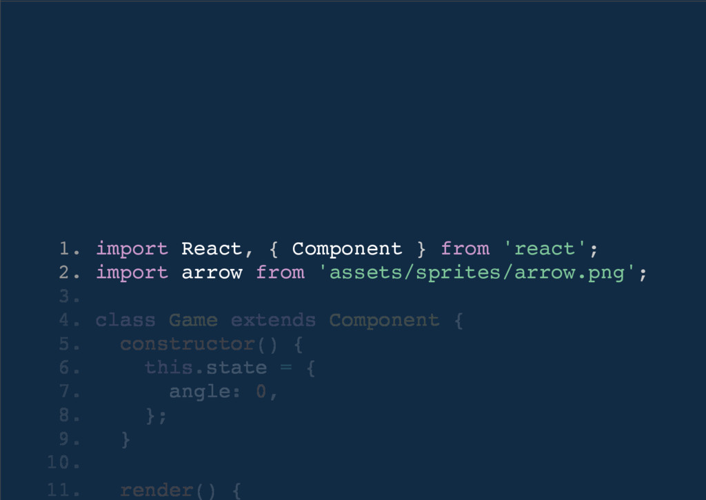 1. import React, { Component } from 'react'; 2....