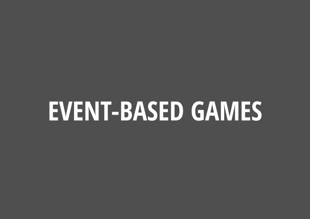 EVENT-BASED GAMES