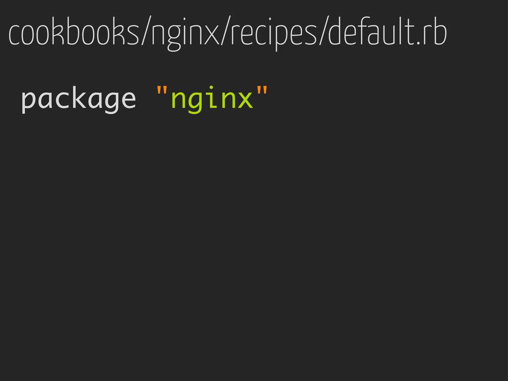 "package ""nginx"" cookbooks/nginx/recipes/default..."