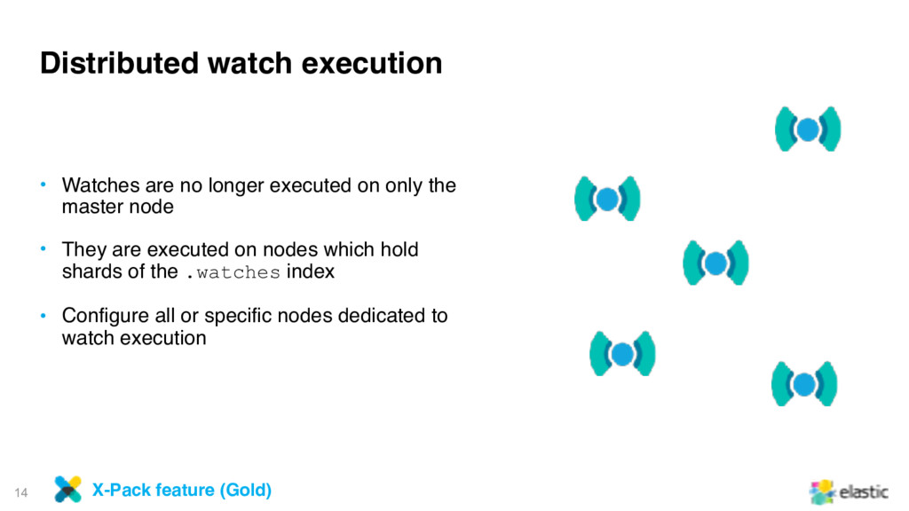 14 Distributed watch execution • Watches are no...