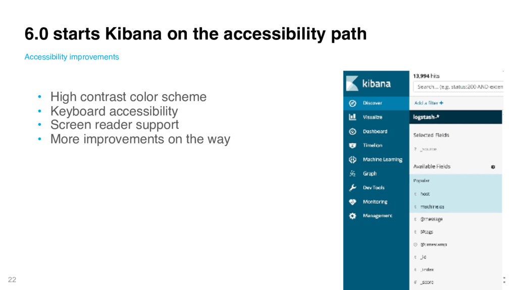 22 6.0 starts Kibana on the accessibility path ...