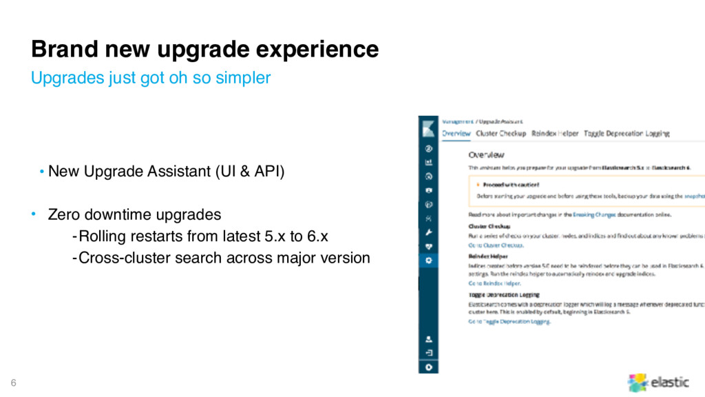 6 Brand new upgrade experience • New Upgrade As...