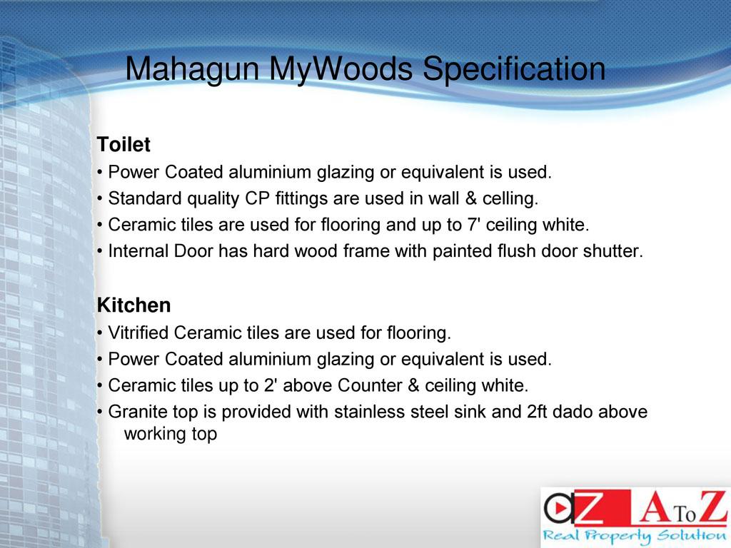 Mahagun MyWoods Specification Toilet • Power Co...
