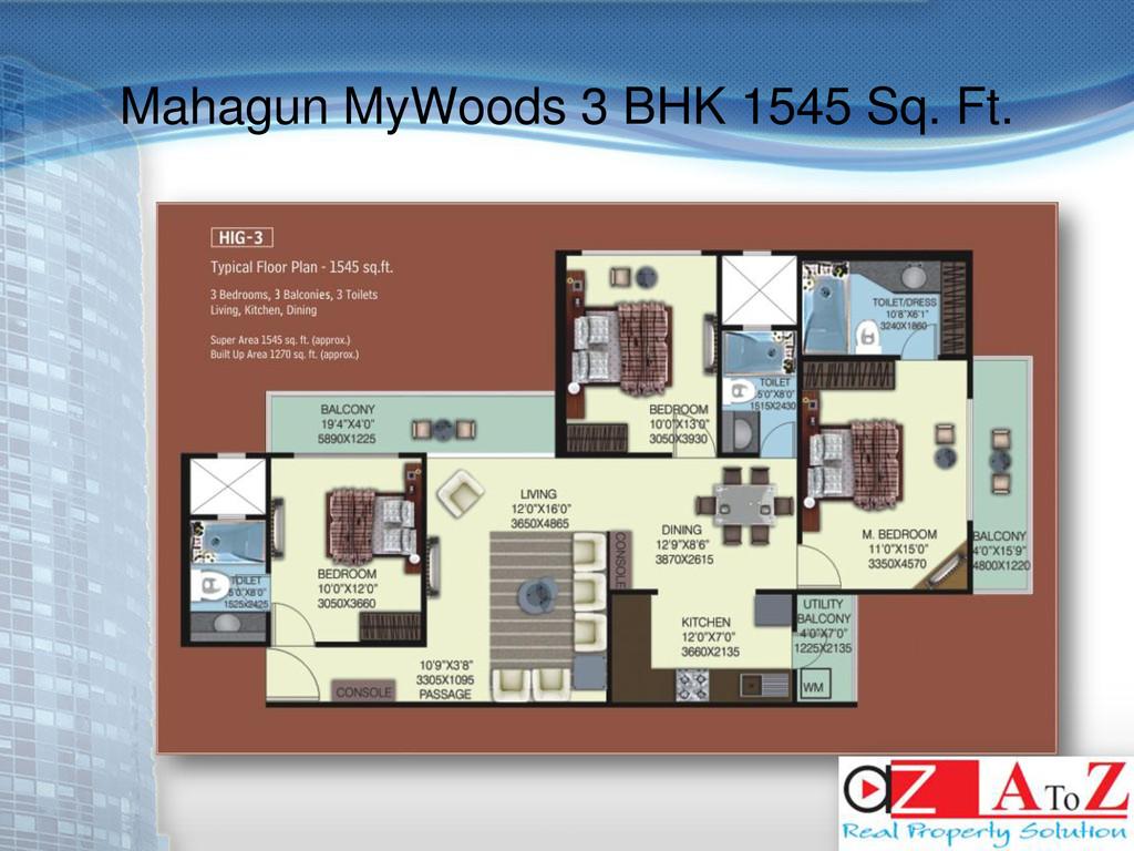 Mahagun MyWoods 3 BHK 1545 Sq. Ft.