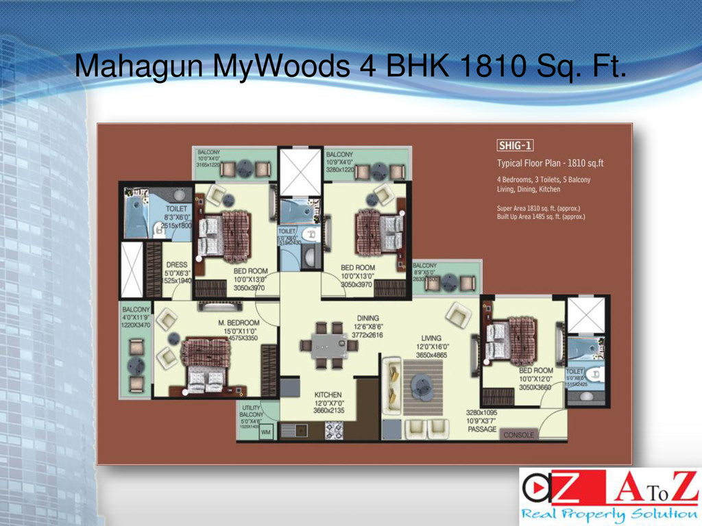 Mahagun MyWoods 4 BHK 1810 Sq. Ft.