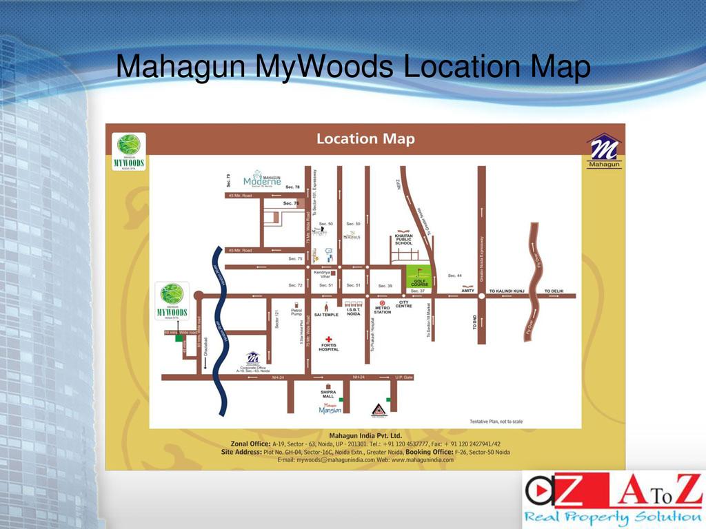 Mahagun MyWoods Location Map