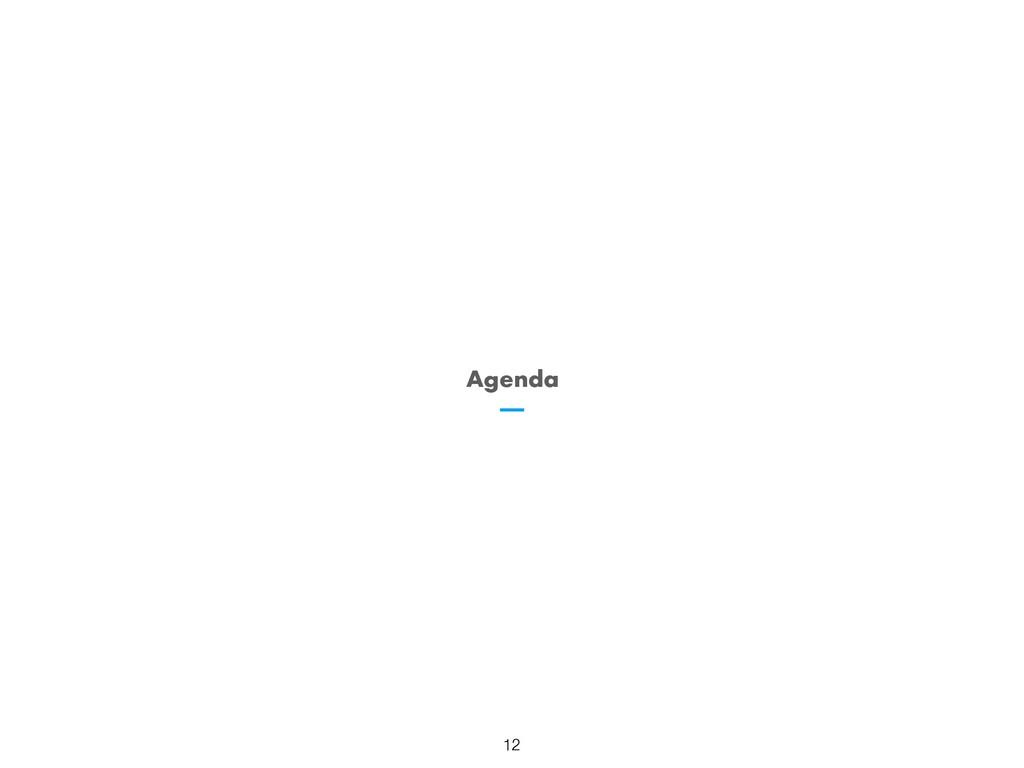 Agenda 12