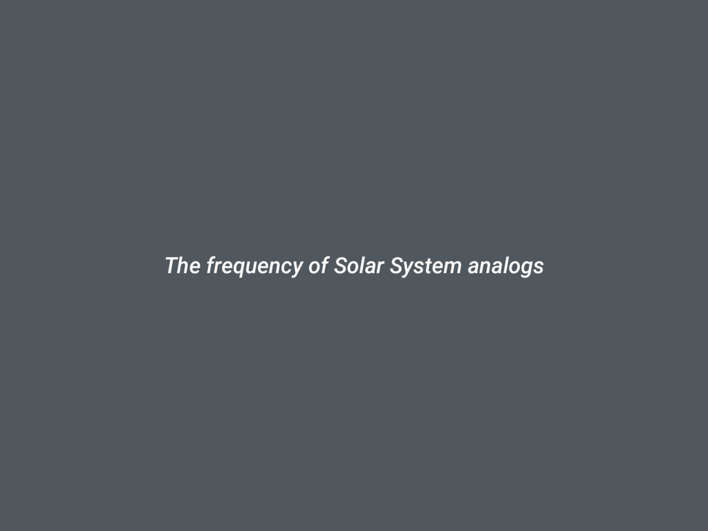 The frequency of Solar System analogs