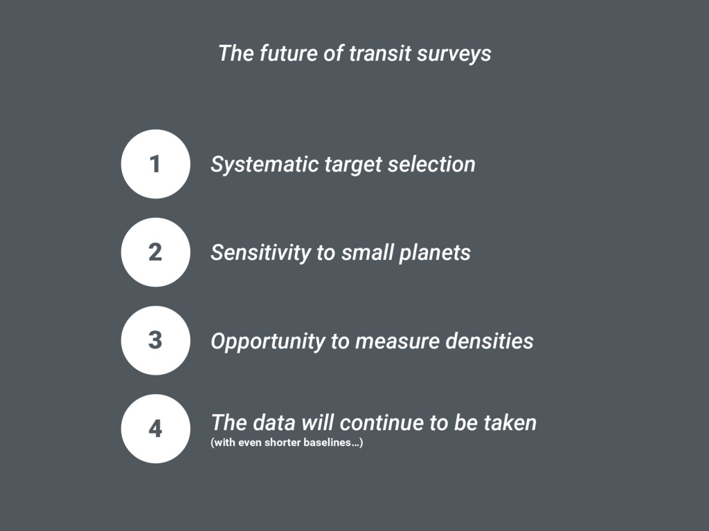 1 Systematic target selection The future of tra...