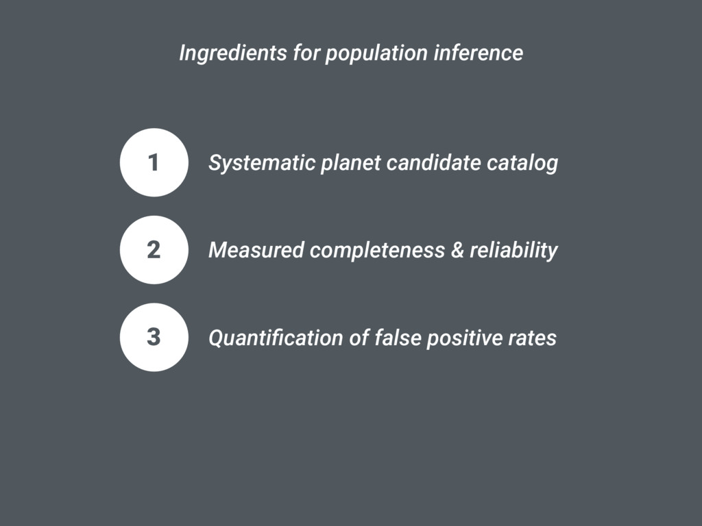 1 Systematic planet candidate catalog Ingredien...