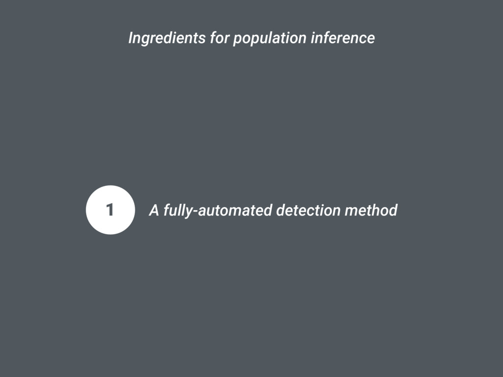 Ingredients for population inference 1 A fully-...