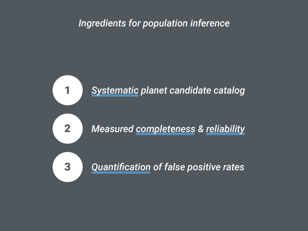 Ingredients for population inference 1 Systemat...