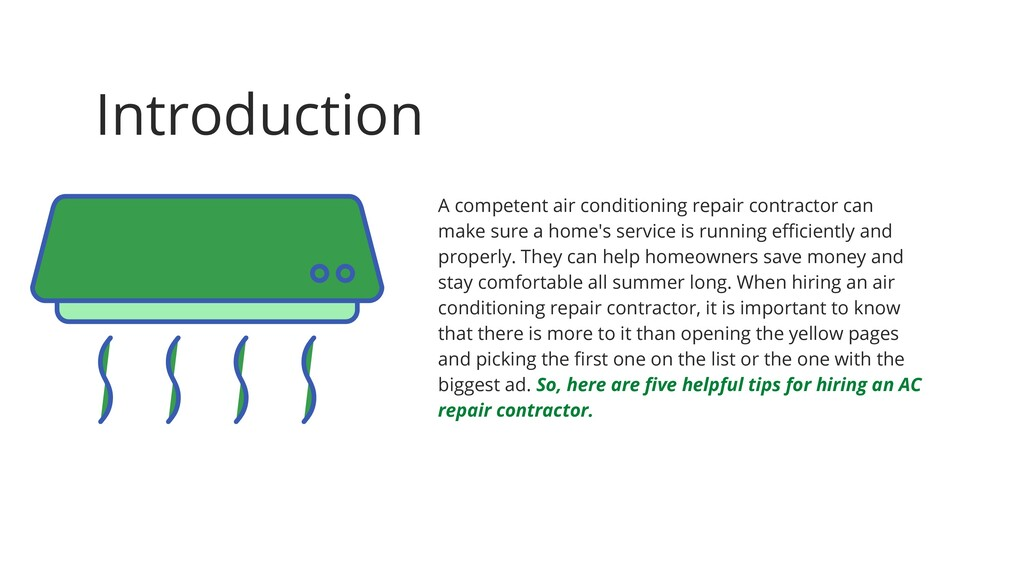 Introduction A competent air conditioning repai...