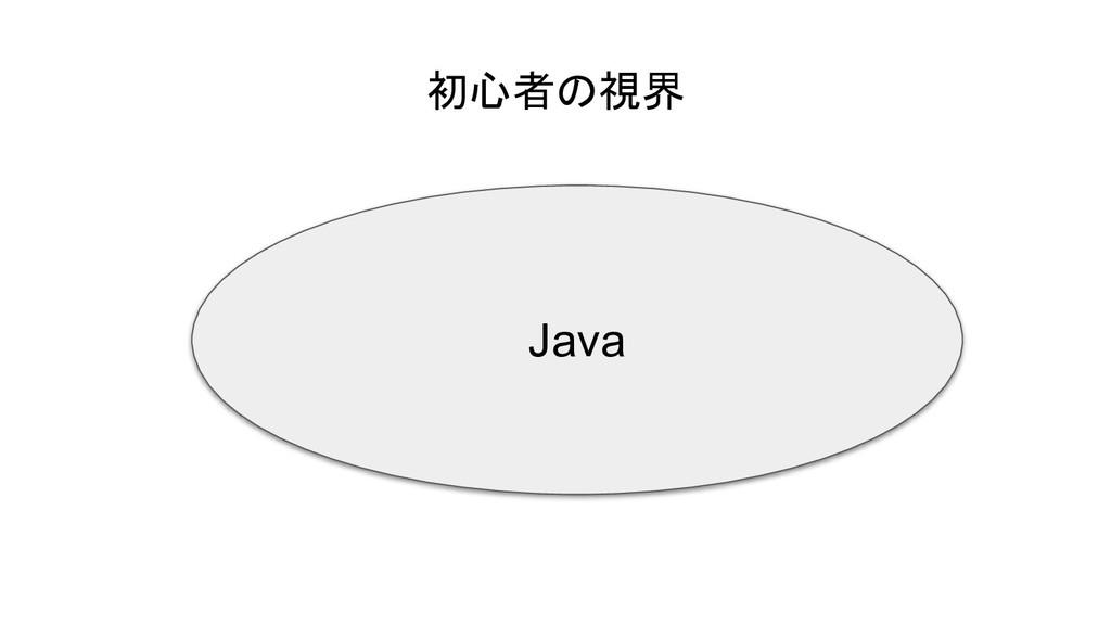 初心者の視界 Java